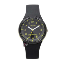 LORUS Jam Tangan - Black Yellow - Silicon - RRX49DX9