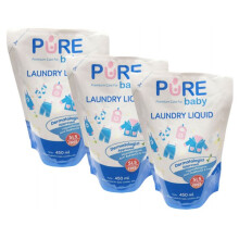 [free ongkir]Pure Baby Laundry Liquid 450 ml Refill - Buy 2 Get 3