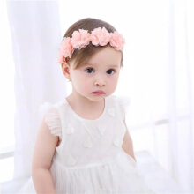 cute baby Headband bandana bando bayi Pink Ribbon Hair Straps Handmade Girl Hair Accessories Pink