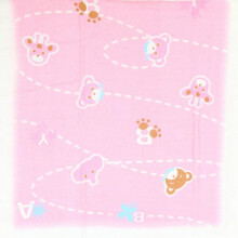Cotton Tree Handuk Jepang - Pink Animal