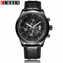 CURREN 8137 Men's Quartz Watches Top Brand Luxury Men Wristwatches Leather Sports Watch