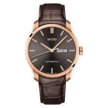 Mido M024.630.36.061.00 Belluna II Automatic Black Dial Brown Leather Strap [M024.630.36.061.00]