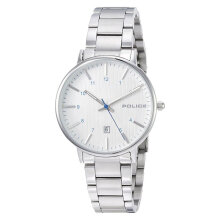 Police Polaris PL.15303BS/01M Men Silver Dial Stainless Steel Watch [PL.15303BS/01M]