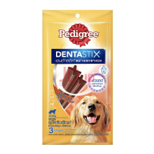 PEDIGREE Dentastix Large Dogs 112gr Perawatan Gigi Anjing Rasa Somkey Beef - 3 Sticks [1 Pack]