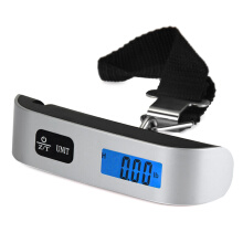 Famirosa Hostweigh NS-14 LCD Mini Luggage Electronic Scale Thermometer 50kg Capacity Digital Weighing Device —Silver