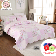 VINTAGE STORY Shabby Bed Cover Set Korea Size King 220x240 cm/BCP1