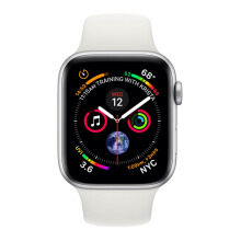 Apple Watch Series 4 GPS 44mm MU6A2 Silver Aluminum Case with White Sport Band