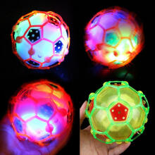 Farfi Colorful Mini Luminous Electric Soccer Toy Music Dance Light Football Kids Gift Random Color