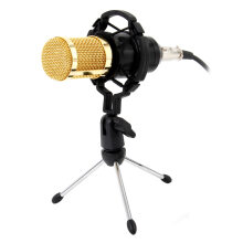 WILLKEY Mikrofon Condenser Sound Recording BM 800 Microphone With Shock Mount For Radio Braodcasting Singing Recording KTV Karaoke-Black