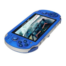 [OUTAD] 4.3inch Screen Game Console 8GB Memory Free Games MP5 Player With Camera Blue