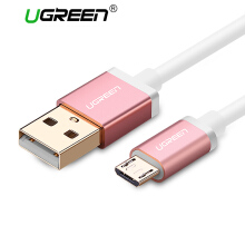 UGREEN Kabel Data 0.25Meter Micro USB Cable for Xiaomi Redmi Samsung Handphone Fast Charger Cable Rose Gold