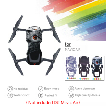 Blitzwolf Drone Body Sticker for DJI Mavic Air Accessories Sticker Waterproof Adhesive Decals for DJI Mavic Air Accessories Purple