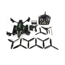 [kingstore] WLtoys Q353 3 in 1 Waterproof RC Quadcopter 2.4G Drone with Air Land Sea Mode Green