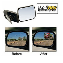 Total View Adjustable Blind Spot Mirror - Cermin Mobil As Seen on TV - Black