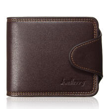 Zanzea 0051Men Wallet Leather Credit Card Holder Coin Bag Purse Bifold Money Clip Pockets Coffee