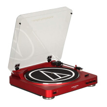 Audio-Technica AT-LP60 USB Automatic Belt-Drive Stereo Turntable - Red