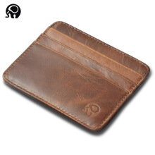 Jantens men Wallet Business Card Holder bank cardholder leather cow pickup package