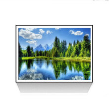 [COZIME] Lakeside Pattern DIY 5D Diamond Painting Cross Stitch Craft Wall Art Pictures multicolor Lakeside