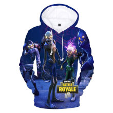 Fashion Personalized 3D Digital Print Loose Hooded Pullover Sportswear Shirt XS