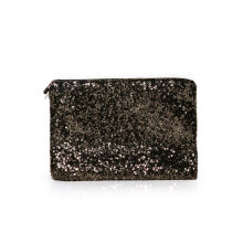 [LESHP]Fashion Ladies Sequins Bag Vintage Luxury Clutch Black