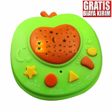 Kaptenstore P- 17000490 Mainan Edukasi Anak APPLE QURAN Apple Learning Quran 6 tombol Green