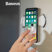 Baseus Universal Phone Holder For Handphone Holder Stand Wall Phone Holder Desktop Phone Stand Car Phone Holder - TRANSPARENT
