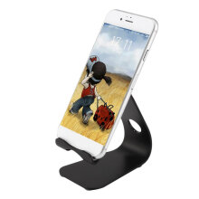 [OUTAD] L1 Mini Mobile Phone Stand Tabletop Holder for iPad mini + Mobile Phone Black