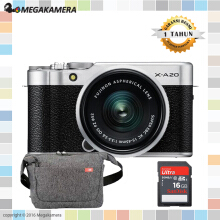 Fujifilm X-A20 Kit 15-45mm Mirrorless Camera - Garansi Resmi Black