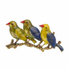 Farfi Creative Three Birds Jewelry Unisex Party Wedding Suit Shirt Brooch Pin Badge Antique Copper