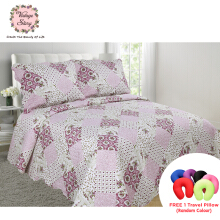VINTAGE STORY Shabby Bed Cover Set Korea Size King 220x240 cm/P16