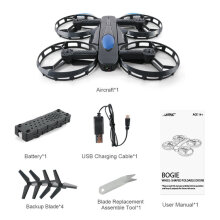 [COZIME] JJR/C H45 BOGIE Wifi RC Drone with 720P Camera Wheel-Shape Foldable Mini Drone black