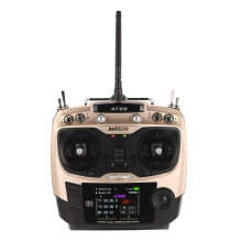 COZIME Radiolink AT9S 2.4G 10CH RC Transmitter Radio with R9DS Receiver DSSS FHSS Golden