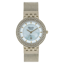 Alexandre Christie AC 2704 LD BCGMS Ladies Mother of Pearl Dial Light Gold Stainless Steel Strap [ACF-2704-LDBCGMS]