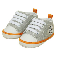 Saneoo Soccer Prewalker Baby Shoes Gray