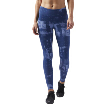 Reebok LesMills Printed Legging - Visblue CD6171