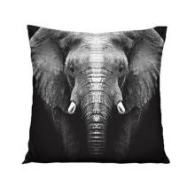 Farfi 3D Printing Elephant Linen Throw Pillow Case Cushion Cover Home Sofa Decoras as the pictures