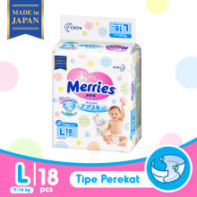 MERRIES Premium Popok Tape L - 18