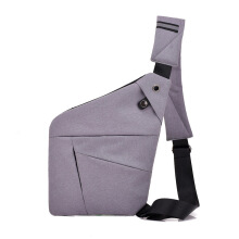 SiYing Business personal one-shoulder men's canvas chest bag Messenger bag