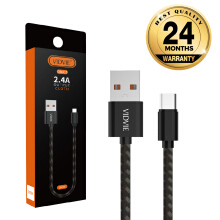 VIDVIE Type-C USB Cable CB441 / Kabel Data / Fast Charging Black Frame with Grey