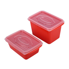 (SB) VICTORYHOME Food Box 1000ml & 500ml Set of 2 - Red