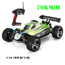 Jantens  RC Car WLtoys A959 2.4G 1/18 Scale Remote Control Off-road Racing Car High Speed Stunt SUV Toy Gift Green