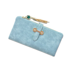 Jantens  2018 Dull Polish Retro Leather Women Long Purse Vintage Solid Multiple Cards Holder Clutch Bags Fashion  Wallet