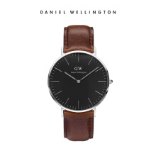 Daniel Wellington Classic Black Leather Watch Bristol Black 40mm