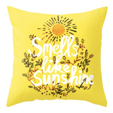 Mendekor Seberang | sarung bantal pillow cover 45 cm kursi sofa kuning quotes 45x45x1cm