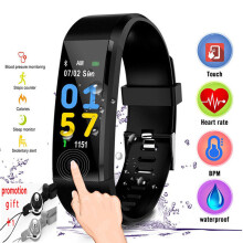 CURREN Smart bandBluetooth Heart Rate Monitor Pedometer Fitness Wristwatch ID115