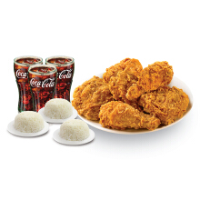 Texas Chicken - Fiesta Feast - 5PC BIC + 3 Medium Drinks + 3 Rice Value Rp 120.000