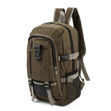 [kingstore]Unisex Backpack Vintage Canvas Rucksack Preppy School Shoulder Travel Satchel Army Green