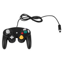 COZIME Game Shock JoyPad Vibration For Nintendo Wii Wired Controller Pad Black