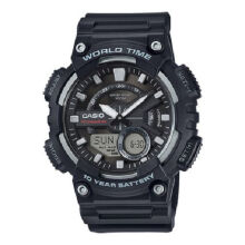 Casio AEQ-110W-1A Sports double display waterproof electronic watch-Black