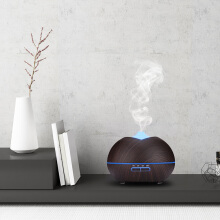 Famirosa GD - 05A (B) 450ml Essential Oil Diffuser Ultrasonic Wood Grain Humidifier with Colorful LED Light